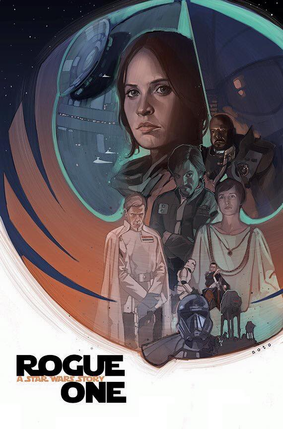 Star Wars: Rogue One. Creado por Phil Noto.